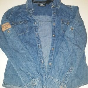 Harley Davidson Jean Shirt Woman's Size Small Used